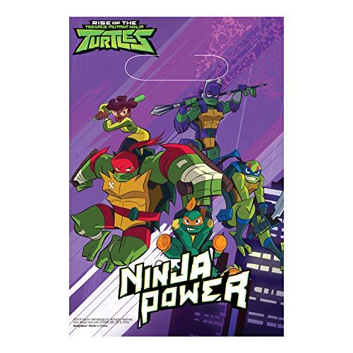 Amscan International 372209 Partymasken Teenage Mutant Ninja Turtles Amscan Party, 8 Stück, Farbe