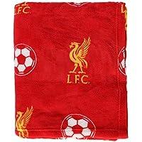 Offizielle FC Liverpool LFC Fleece Decke in 125 x 150 cm in Rot