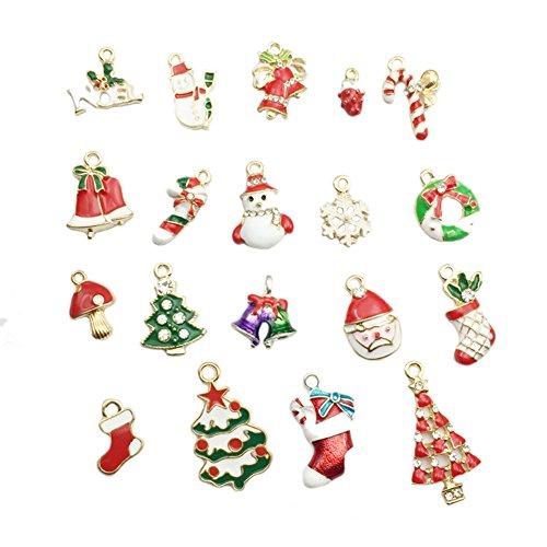 Doitsa 19Pcs/Set Fantaisie Ornements Arbre de Noël Décoration en Métal Forme de Elk, Pendentifs de Noël
