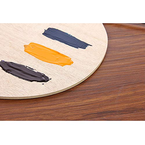 Palette Wooden Artist Oval Art Supplies Watercolor Smooth Tray Acrylic with Thumb Hole Flat Oil Painting(20x30x0.3cm)