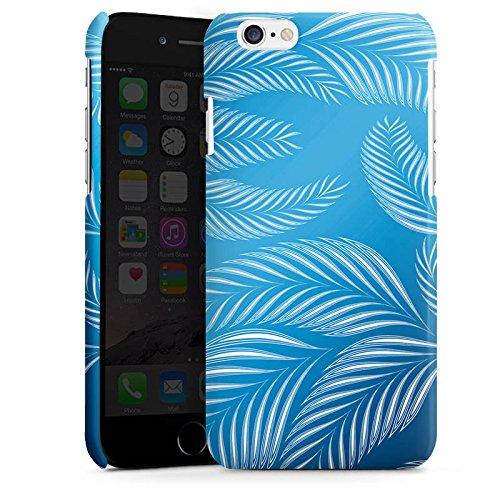 Apple iPhone 4 Housse Étui Silicone Coque Protection Palmiers Feuilles Bleu Cas Premium brillant