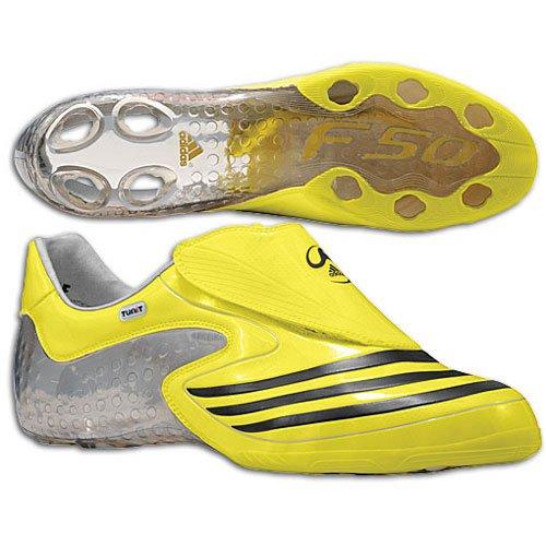 Adidas F50.8 Tunit FuÃ?ballschuh, Zitrone / schwarz / silber, 7,5 M Lemon/Black/Silver