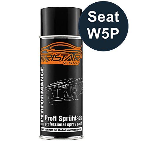 TRISTARcolor Autolack Spraydose für Seat W5P Azul Apolo Metallic/Apolo Blau Metallic Basislack Sprühdose 400ml