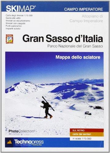 Gran sasso d'Italia. Mappa dello sciatore
