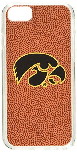Iowa Hawkeyes Team Farbe Fußball Pebble Grain Schutzhülle Feel iPhone 6, eine Größe, schwarz (Hawkeyes Iowa Baseball)