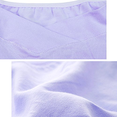 Zhhlinyuan Women Pregnant Unterwäsche Cotton Pregnancy Cozy Lingerie Low Waist U type Yellow