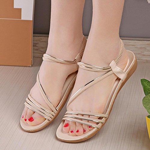Sandales Pour Femmes , Internet Sandales de Bohême dété - Flat Beige