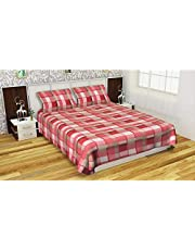 Fabture Fleece Warm Double bedsheet with Pillow Covers for Winters, Pink