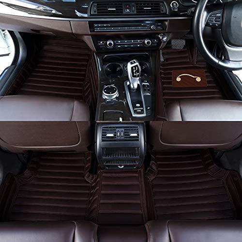 Autofurnish 5D Carbon Fiber Style Custom Fitted Car Mats Compatible with Hyundai Kona 2019 - Coffee