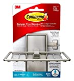 Command BATH34-SN-ES Soap Dish, Satin Nickel, 1-Soap Dish, 2-Medium Water-Resistant Strips by Command