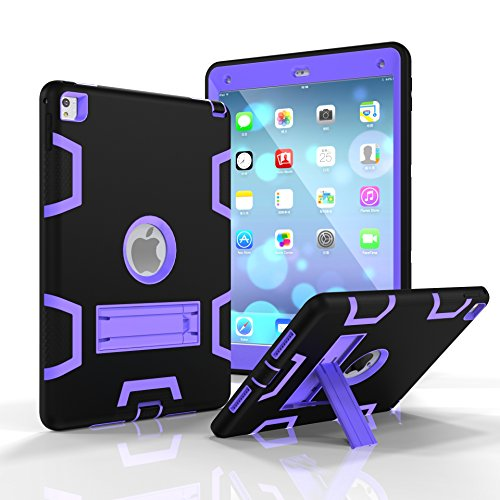 SUMOON SUMOON iPad Pro 9.7 Protective Case Unknown Tablet-Schutzhülle, Apple ipad pro 9.7, schwarz/violett, Stück: 1 (Apple Cube Ipad-ladegerät)