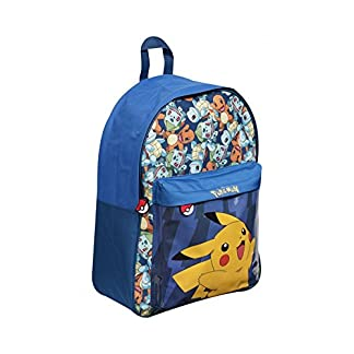 Mochila grande Pokémon, mochila azul con Pikachu