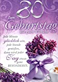 Geburtstagskarte XXL zum 80.