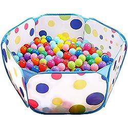 Eocusun Tienda de Juego, 1M Grande Piscina de Bolas Tienda de Juego para Niños y Infantiles, Plegable Piscina de Pelotas Interior / Exterior(Bolas NO Incluido)