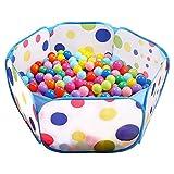 EocuSun Spielzelt, Bällebad Ball Pool Pop up Zelt Kinder Spielzelt, Laufstall Faltbare Ball Pit Bällepool für 1-3 Jährige Baby Kinder im Indoor Outdoor(Nicht Enthalten Bälle)