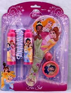 Disney Princess: 3 Piece Fun Set - Skipping Rope, Paddle and Ball, Yo-Yo