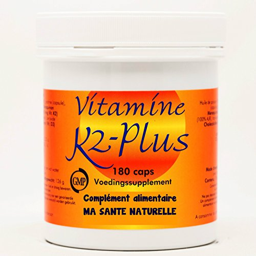 Vitamine K 2 - plus - 180 capsules molles / softgels