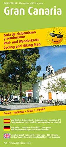 Preisvergleich Produktbild Rad- und Wanderkarte / RuWK: Gran Canaria: Rad- und Wanderkarte dreisprachig, wetterfest, reißfest, abwischbar, GPS-genau. 1:50000