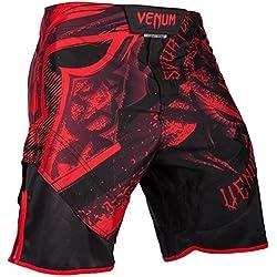 Venum Gladiator 3.0 Pantalones Cortos de Entrenamiento, Hombre, Negro / Rojo, M