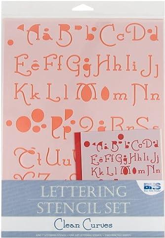 Blue Hills Studio Buchstaben-Schablone, 4-teilig, transparent (Farbe kann variieren)