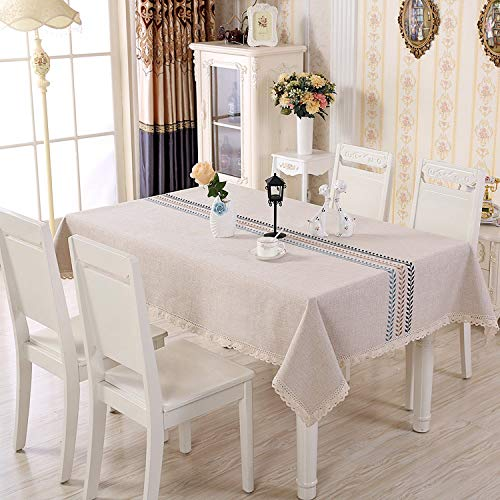 White Deep Buffet (Cotton and linen household tablecloth coffee table, cloth, wheat wave, deep 90 * 150)