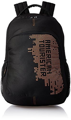 American Tourister Unisex 27 Ltrs Black Casual Backpack (AMT Stratos BP-03 Black/Orange)