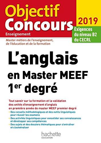 L'anglais en Master MEEF 1er degré par Claire Béniméli