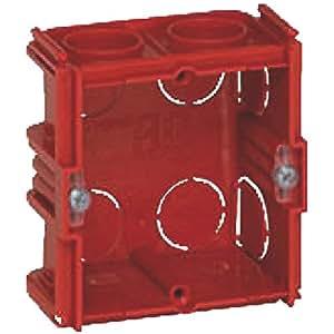 Legrand LEG90531 Boîte Batibox pour murs parpaings, briques - 1 poste - Profondeur 40 mm