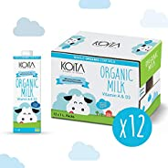 Koita Organic Milk Whole - Pack of 12 Pcs (12 x 1L)