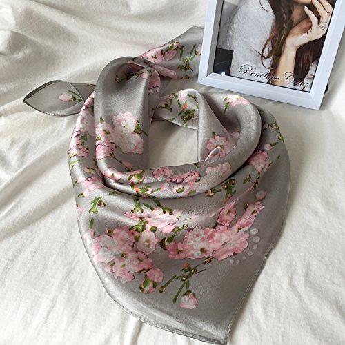 Upper-Petit carré femme Printemps été Wilde soie foulards seidenschals Grayish cherry