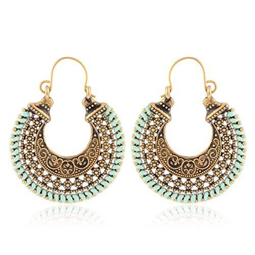 Earrings for women traditional (Green)