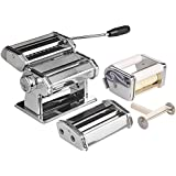 VonShef Manuelle Pastamaschine Nudelmaschine - hausgemachte, frische Pasta