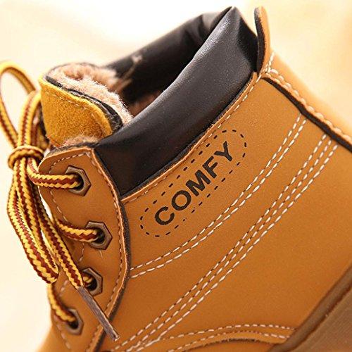 Für 1-6 Jahre alten Jungen Schuhe,Amlaiworld Baby Art Martin Stiefel warme Schuhe Gelb