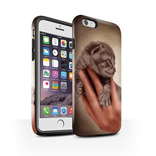 Officiel Elena Dudina Coque / Brillant Robuste Antichoc Etui pour Apple iPhone 6S / Endormi/Tigré Chat Design / Les Animaux Collection Minou/Voir