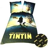 Tintin Globe Single Duvet Set Panel Print