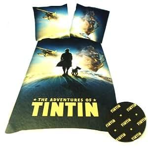 Belltex Tintin Globe DBO Parure Linge de Lit 200 x 140 cm