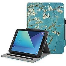 """Fintie Samsung Galaxy Tab S3 9.7 Funda, [Multi-Ángulo de Visualización] Slim Stand Case Plegable Smart Cover con Auto-Sueño / Estela para Samsung Galaxy Tab S3 9.7"""" Tablet, Blossom"""