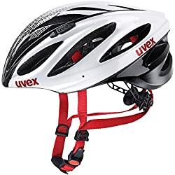Uvex Boss Race - Casco de ciclismo, color blanco / negro