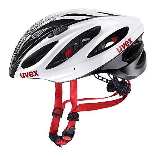Uvex Fahrradhelm Boss Race, White-Black, 55-60, 4102290817