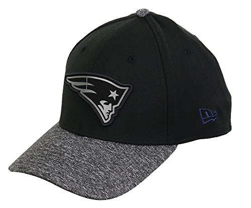 NEW ENGLAND PATRIOTS - NEW ERA FLEXFIT CAP - GREY COLL - BLACK / DARKGREY ML