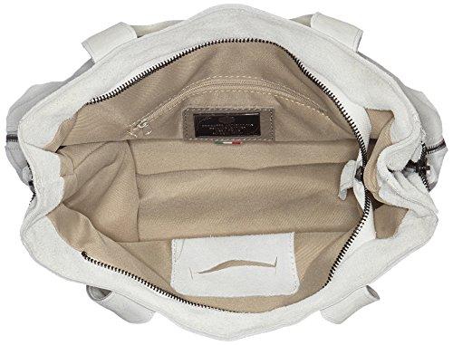 Chicca Borse 8620, Borsa a Spalla Donna, 37x37x6 cm (W x H x L) Bianco