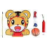 FTVOGUE 5 in 1 Cartoon Tier Hängende Basketball Set Hoop Net String Pumpe Kinder Spielzeug Indoor Mini Basketballboard(01)