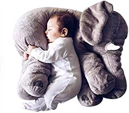 Missley Weich Elefant Kissen Schön Tier Plüsch Spielzeuge Warm Sofa Polster Weihnachten Geschenke (Grau, Klein)