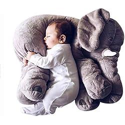 Missley Elefante Sofá Amortiguar súper Suave Elefante Lanzar Almohada Encantador Animal Relleno Juguetes para Niños (Gris, Grande)