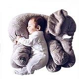 Missley Weich Elefant Kissen Schön Tier Plüsch Spielzeuge Warm Sofa Polster Beste Weihnachten Geschenke (Grau, Groß)
