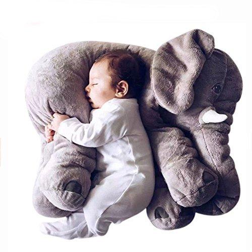 Missley Elefante Sofá Amortiguar súper Suave Elefante Lanzar Almohada Encantador Animal Relleno...