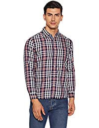 43c04e8f77 BUFFALO By fbb Men s Checkered Regular Fit Casual Shirt  (1000857621-SF X-Large)