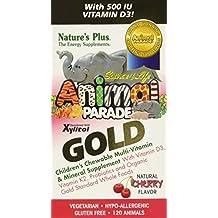 Nature's Plus, Animal Parade Gold, Children's Chewable Multi-Vitamin & Mineral, Cherry Flavour, 120 Animals