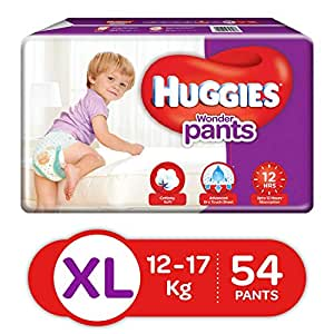 Huggies Wonder Pants Diapers, Extra Large (Pack of 54)