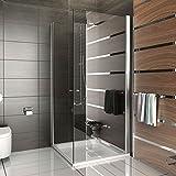 Duschabtrennung Dusche Eckeinstieg Drehtür Duschkabine rahmenlose Dusche Kage 90x90 x